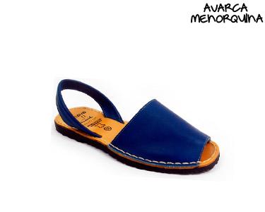 Avarca Menorquina® em Pele Kids | Azul Navy
