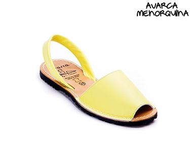 Avarca Menorquina® em Pele | Amarelo