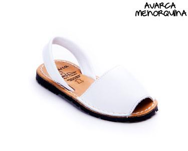 Avarca Menorquina® em Pele | Branco