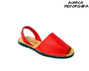 Avarca Menorquina® em Pele | Vermelho