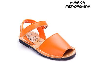 Avarca Menorquina® c/ Velcro Kids | Laranja