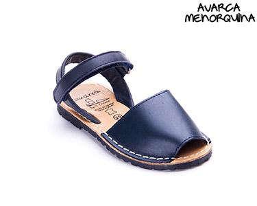 Avarca Menorquina® c/ Velcro Kids   Azul
