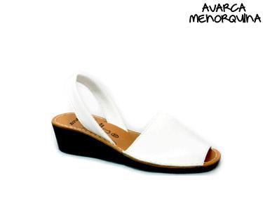Avarca Menorquina® em Pele e Cunha | Branco