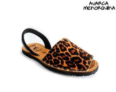 Avarca Menorquina® em Pele   Leopardo