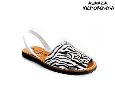 Avarca Menorquina® em Pele | Zebra