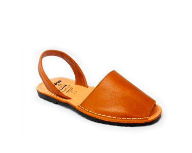 Sandálias Menorquina® em Pele | Castanho Claro