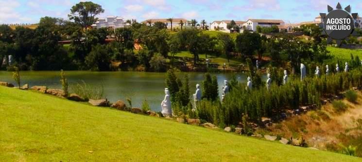Costa de Prata | Noite & Entradas no Jardim Buddha Eden - Vale Grande Hotel
