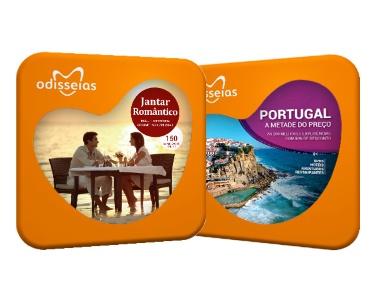 2 Presentes: Jantar Romântico + Portugal a Metade do Preço