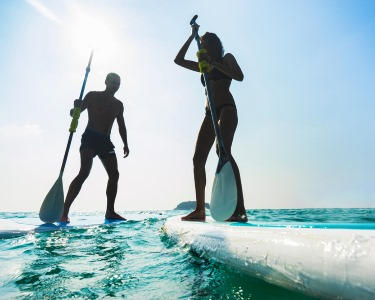 Aula de Stand-Up Paddle a Dois - 2h | Peniche | Diversão Aquática!