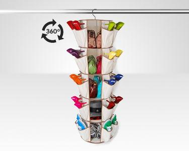 Organizador de Sapatos, Malas e Acessórios 360º