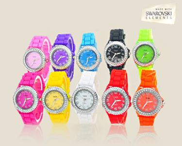 Relógio Verde Swarovski Elements®