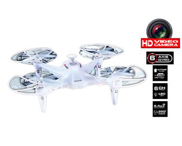 Drone Quadcopter X6 com Câmara HD e Luzes LED