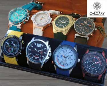 Conjunto 4 Relógios Calgary® Para Ele e Para Ela | Presente TOP