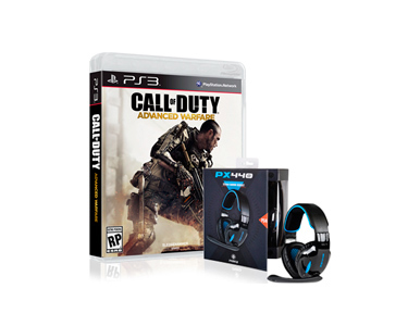 Jogo PS3 ou PS4 Call Of  Duty Advanced Warfare + Auscultadores