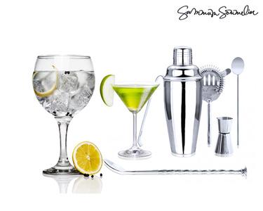 Kit Profissional Cocktail com 6 Acessórios | O Gin Tónico Perfeito