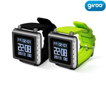 Relógio Multifunções | 8 GB, MP4, FM e Pedómetro Multilíngua