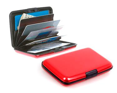 Carteira Vermelha em Alumínio | Porta Cartões