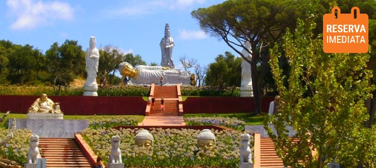 Peniche + Buddha Eden Jardim da Paz » Noite com Vista Mar para 2 + Peq. Almoço + Entradas
