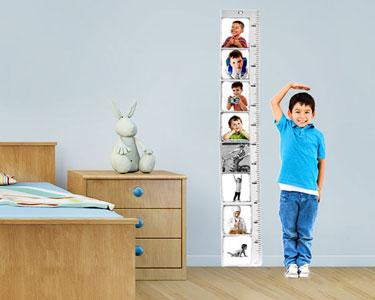 Moldura & Fita Métrica Vertical   Acompanhe o Crescimento do seu Filho