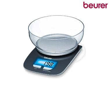 Balança Digital de Cozinha Beurer® c/ Tijela de Pesagem