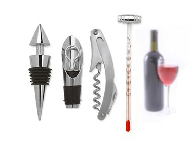 Kit para Vinho | 4 Acessórios incluindo Termómetro!