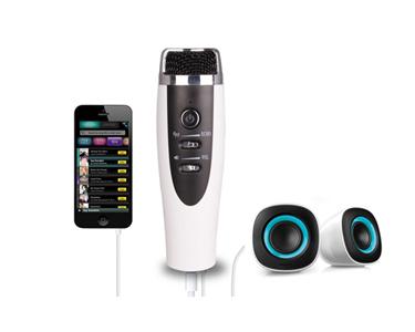 Microfone de Karaoke com Amplificador | Para Smartphone ou Pc