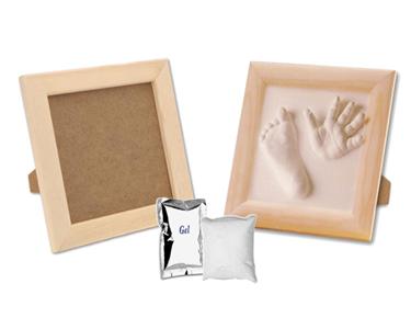 Kit de Moldagem em Gesso com Moldura para Bebé
