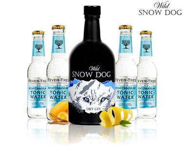 Gin Premium da Serra da Estrela   Wild Snow Dog & 4 Tónicas Fever-Tree