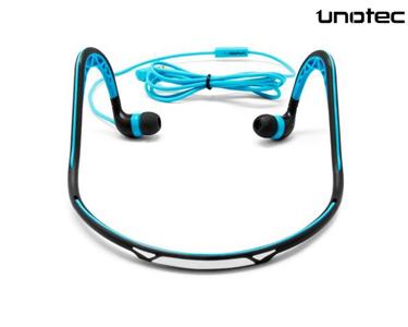 Auriculares Desportivos Unotec® | Azul