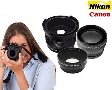 Lentes para Objectivas Canon 58mm & Nikon 52mm