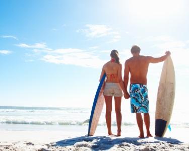 Baptismo de Surf e Aula de Yoga em Matosinhos | Desafio de 1h30 para Dois