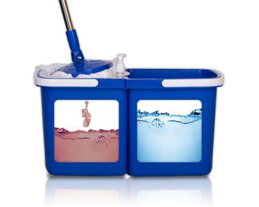 Balde & Esfregona com 2 Recipientes | Para Água Suja vs Água Limpa