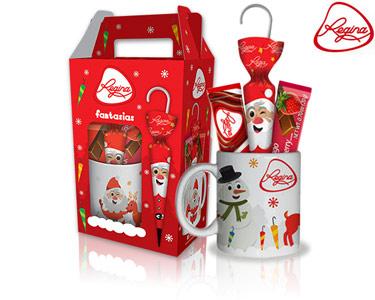Caneca de Natal com 3 Chocolates Regina®