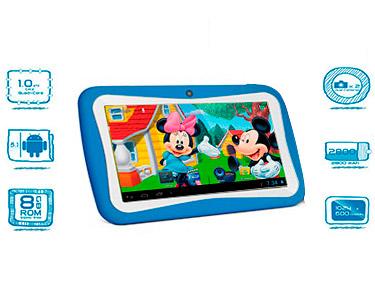 Tablet 7' para Crianças 8GB c/ Capa de Silicone | Cores à Escolha