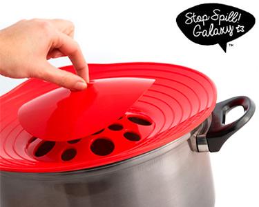 Tampa de Silicone Stop Spill | Cozinha a Vapor e Evita Salpicos!