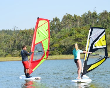 Aventura Aquática! Baptismo de Windsurf na Lagoa de Óbidos