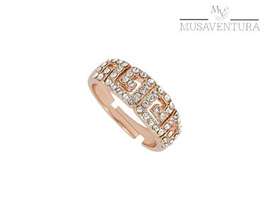 Anel Atenas Ouro Rosa c/ Swarovski Elements® | Tamanho Ajustável