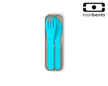 Talheres de Bolso em Plástico Biodegradável    Azul Claro
