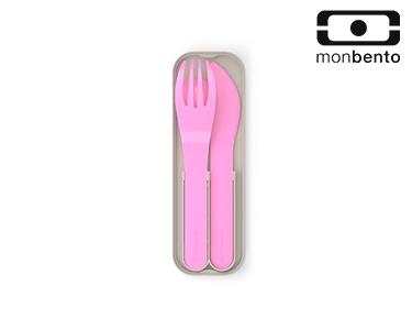 Talheres de Bolso em Plástico Biodegradável    Rosa