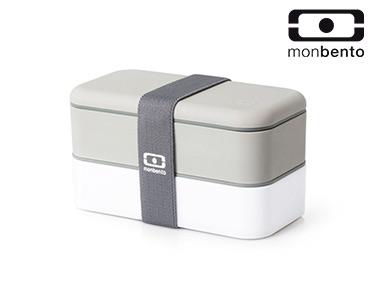 Marmita Original c/ Dois Compartimentos | Cinza e Branco