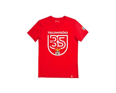 T-Shirt Tricampeão com Escudo ao Centro  | Escolha o Tamanho