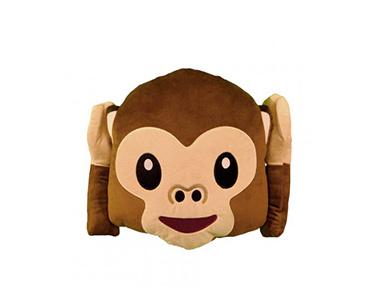 Almofada Emoji Macaco com as Mãos nas Orelhas