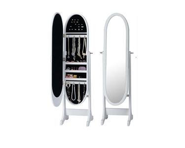 Espelho Guarda Jóias Oval | Branco