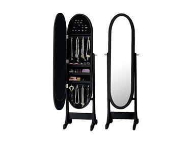 Espelho Guarda Jóias Oval | Preto