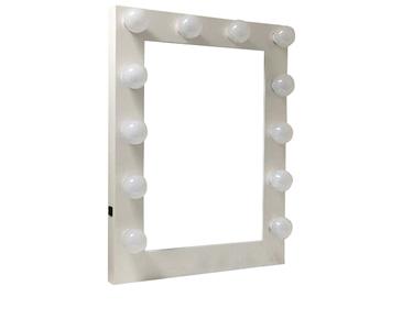 Espelho de Camarim com 12 Lâmpadas | Branco