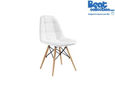 Cadeira Tower Wood Almofada | Branco