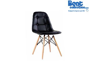 Cadeira Tower Wood Almofada | Preto
