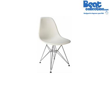 Cadeira Tower Branco c/ Pés Metálicos