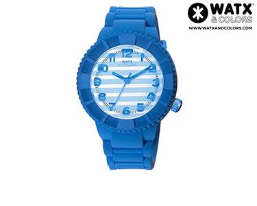 Relógio Watx & Colors® M Stripes | Azul