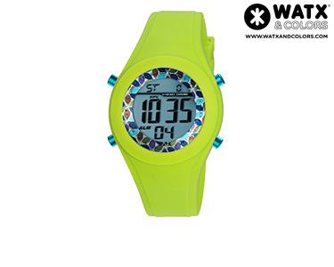 Relógio Watx & Colors® Custo Digital | Azul e Verde